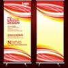 【cdr】科技公司企业X展架 易拉宝设计