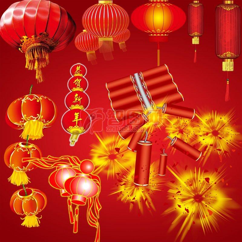 大红节日灯笼