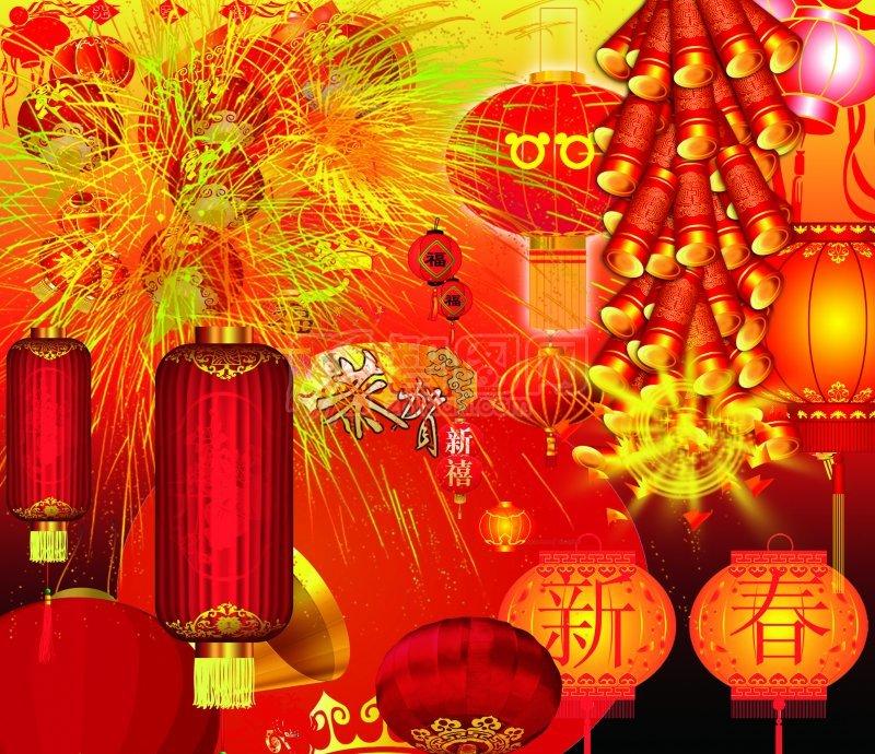 新春紅燈籠