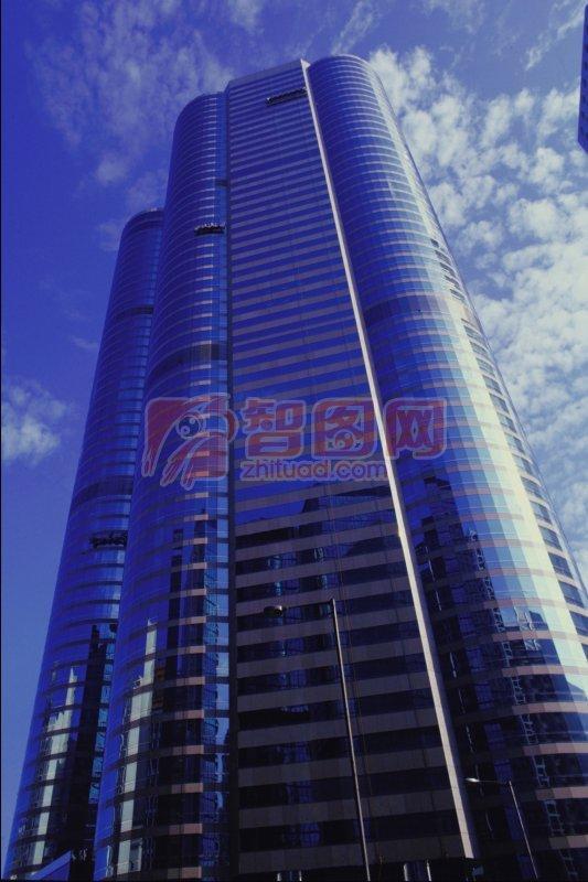 建筑高楼仰视摄影