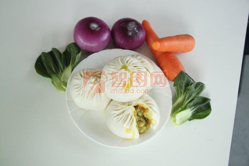 蔬菜拼盘 包子 菜包