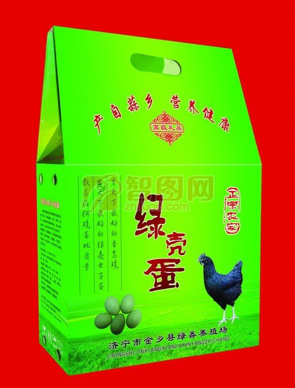 农家绿壳蛋包装