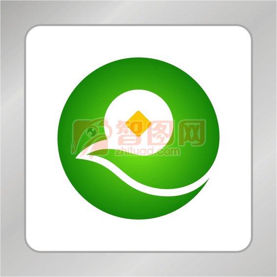 创意凤凰铜钱金融标志