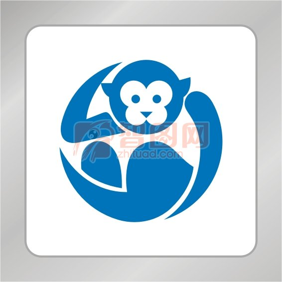 卡通標志 猴子標志