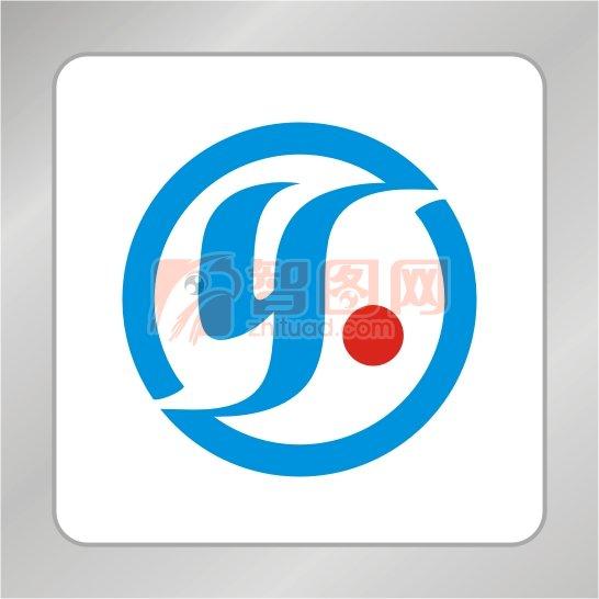 y标志k标志 蓝色标志