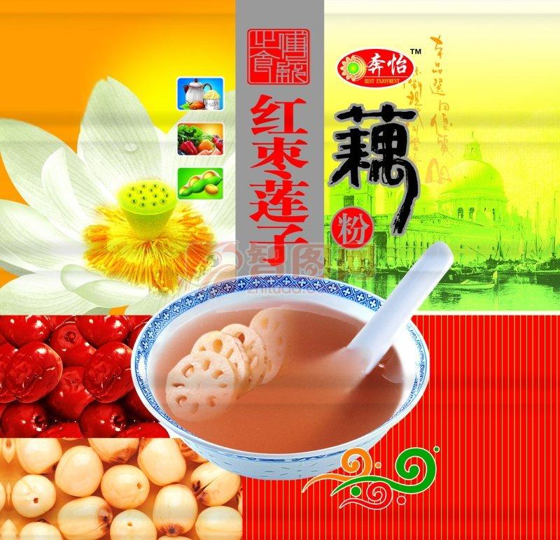 红枣莲子藕粉