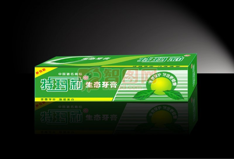 生态牙膏包装