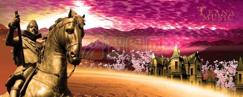 骑马将军海报设计