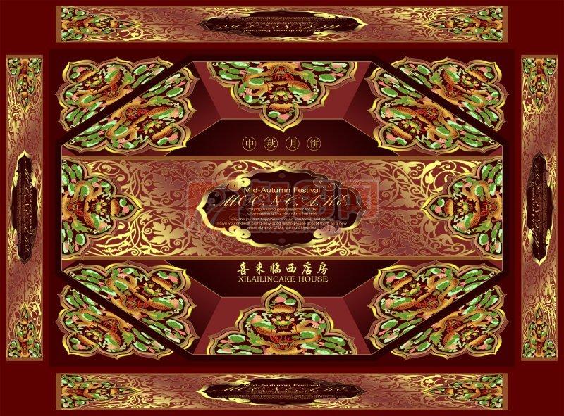 古典中秋月饼包装