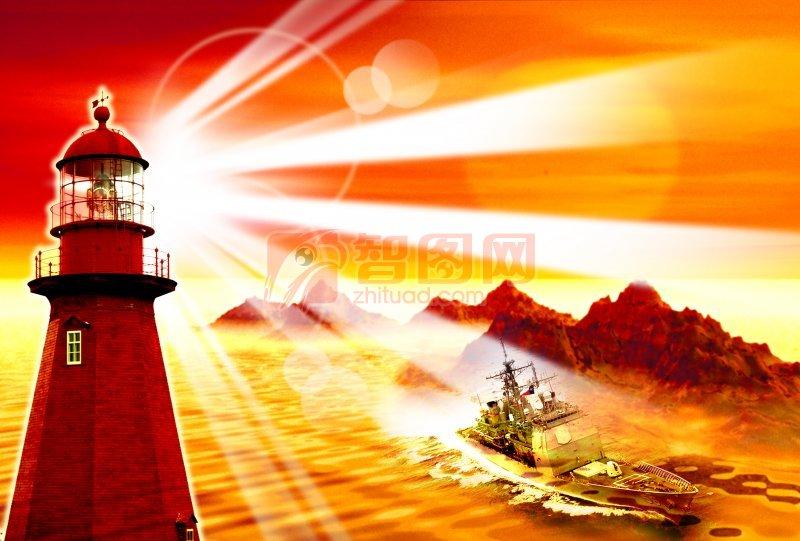 渔船素材 船类素材 光芒特效素材 ps分层素材 海报宣传素材 说明:灯塔