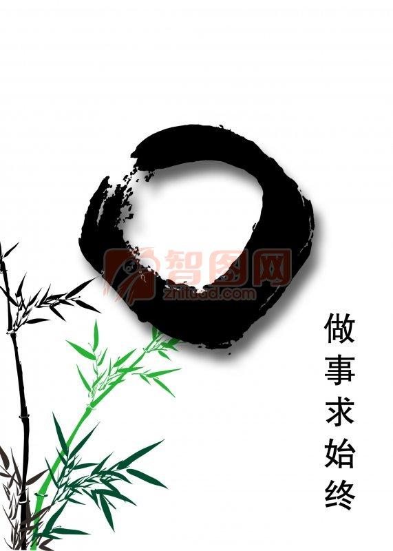 經典竹子背景設計
