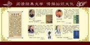 中华文化人物展板