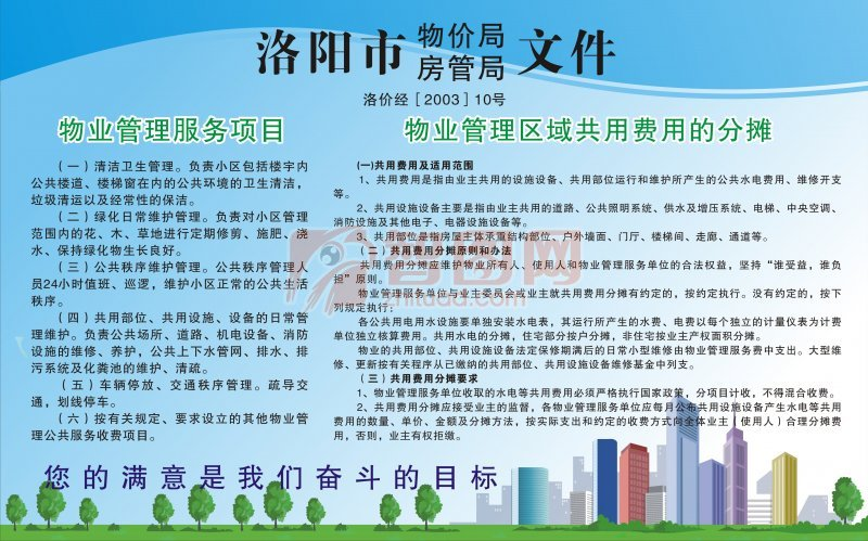 城市物業管理展板