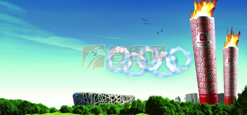 北京奥运海报素材