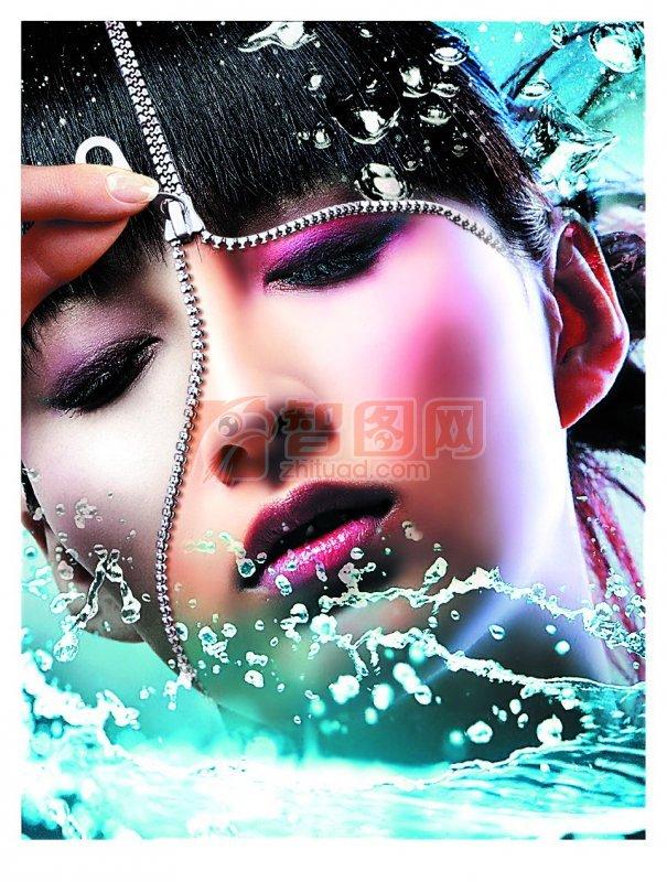 高清活水化妆护海报