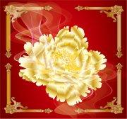 金色花纹设计
