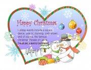 爱心圣诞节贺卡