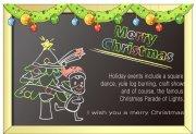 黑板圣诞贺卡