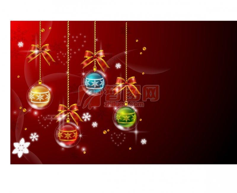 圣诞节背景花纹