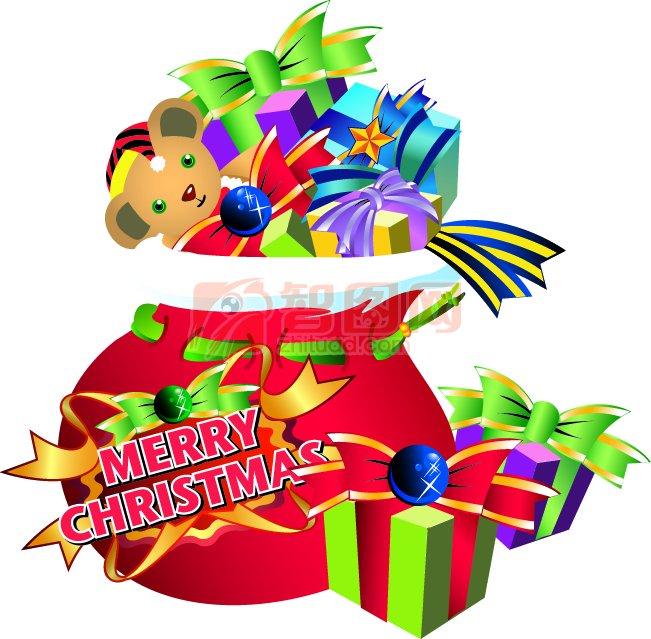 圣诞节快乐 圣诞节礼物设计素材
