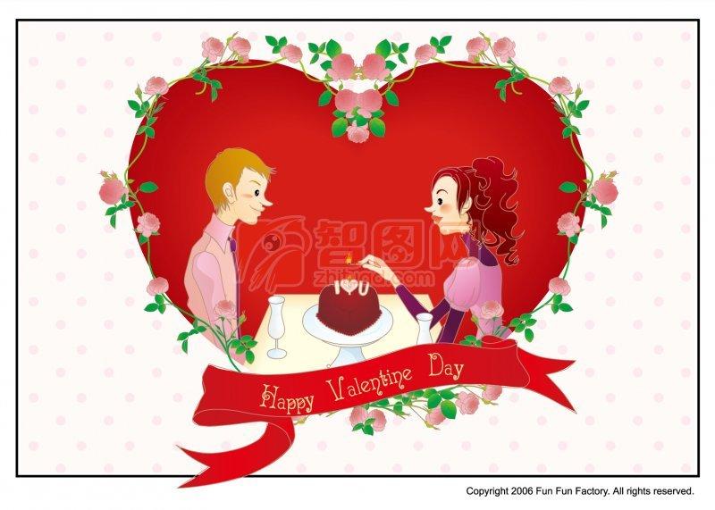 情人节快乐 卡通情人节素材