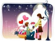 浪漫情人節 情人節宣傳海報