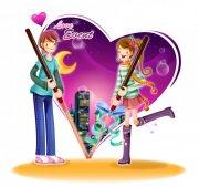 浪漫情人節 情人節卡通