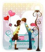 浪漫情人節 清新背景