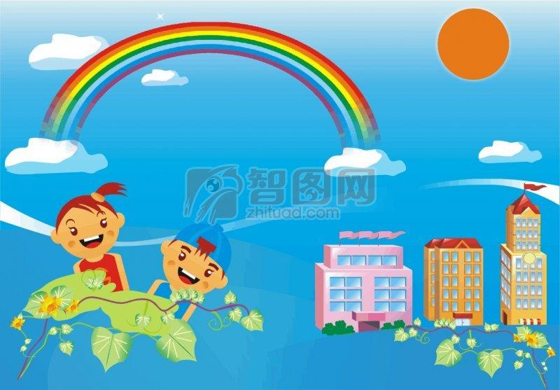 儿童节学校海报