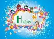 兒童節快樂海報