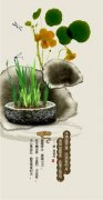 水墨盆景海报