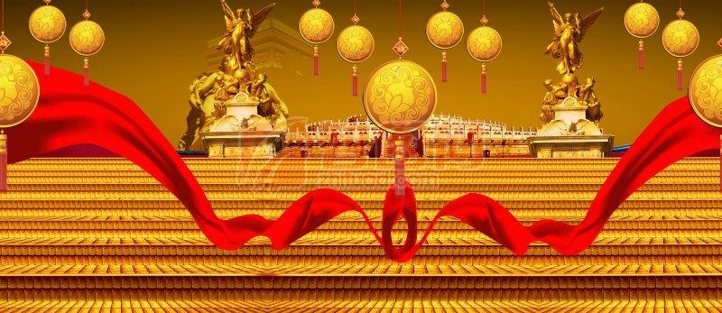 金色背景圖尊貴建筑