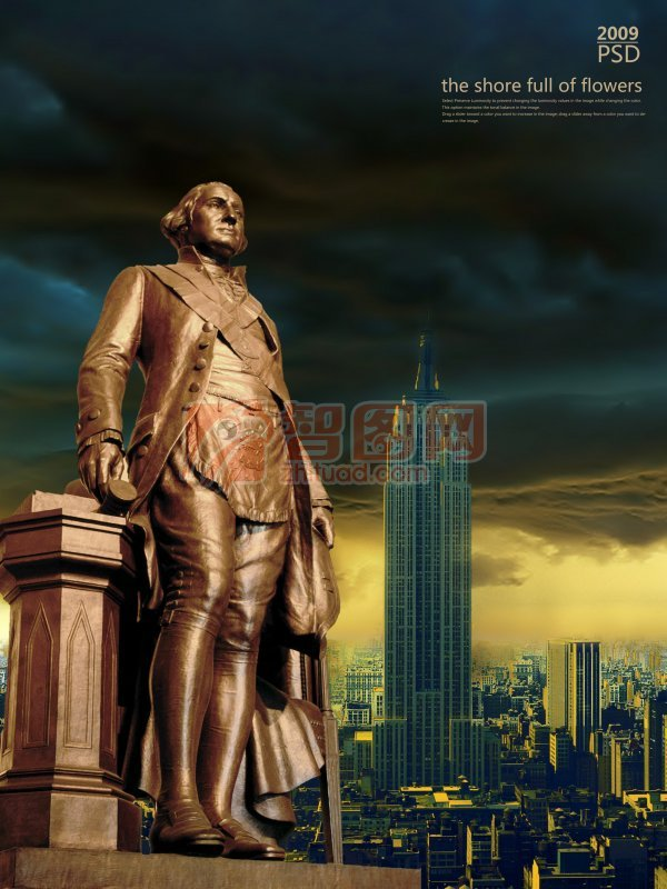 华盛顿雕塑素材