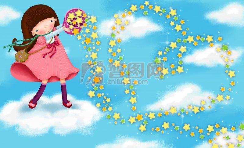 儿童节散花