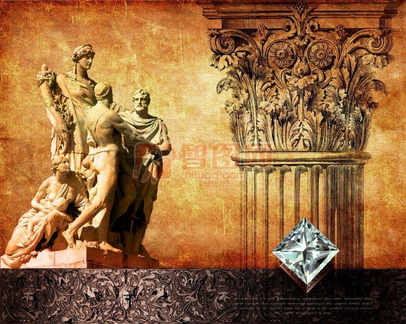 欧洲传统文化海报