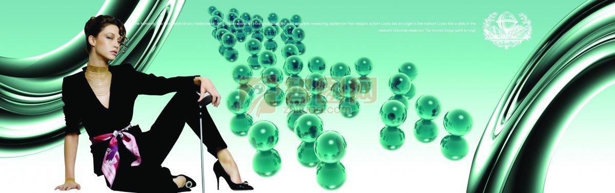 ps分层专区 广告设计 海报设计  关键词: 美女素材 黑色衣服人物 现代