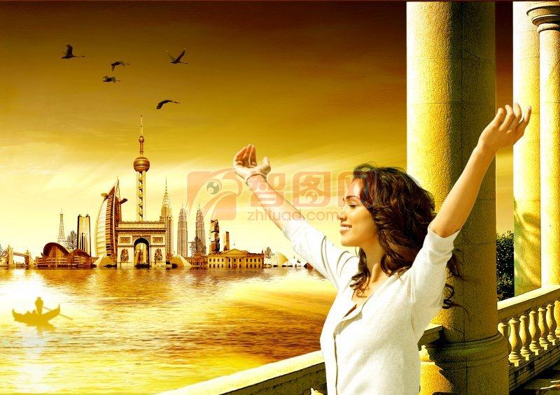 欧美风情房地产设计海报