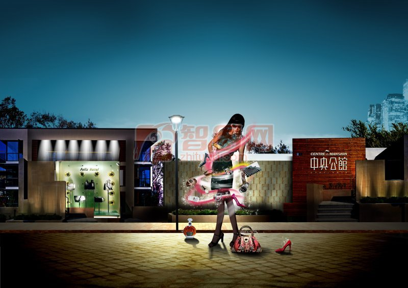 中央公馆房地产海报设计