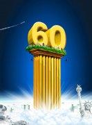 蓝色背景海报设计素材——60雕塑