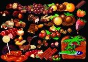 水果 巧克力海报