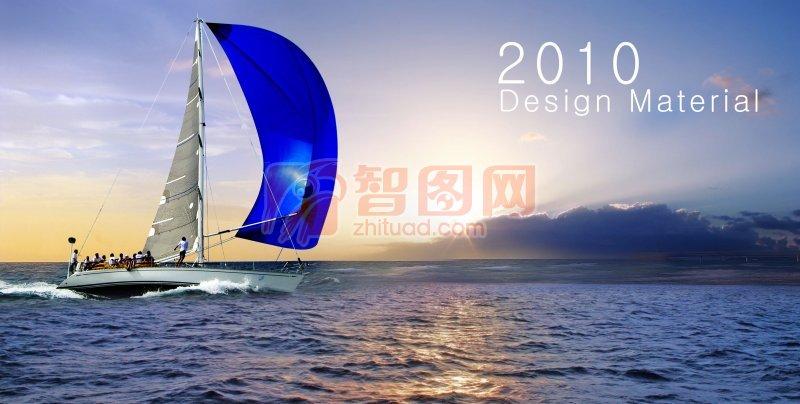 蓝紫色背景海报设计素材