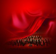 炫彩红色丝绸背景元素