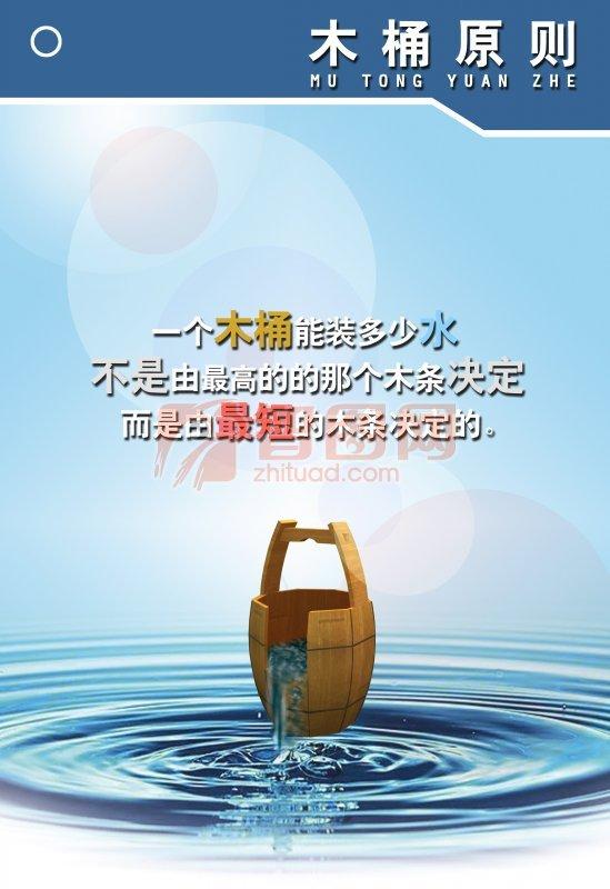 蓝色背景元素海报