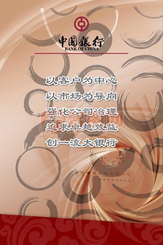 中國銀行海報