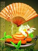 幽幽清茶文化素材
