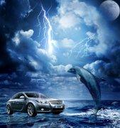 汽车海报元素