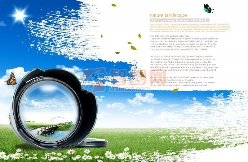 自然景观海报设计