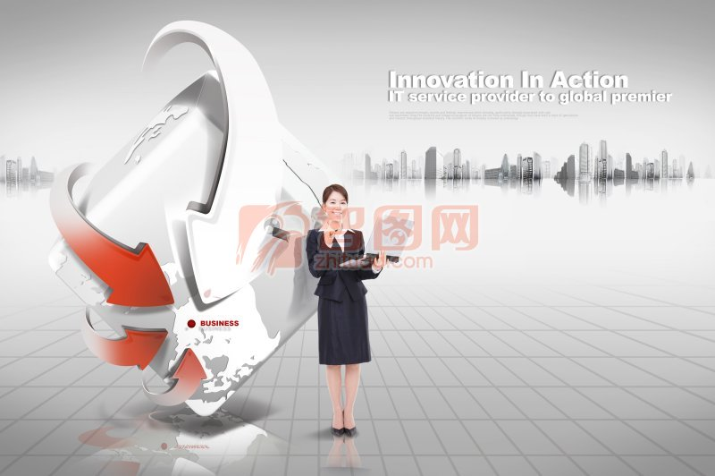 innovation in action 商务海报设计