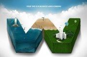 环保素材商务广告设计