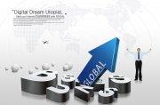 GLOBAL全球商務海報設計